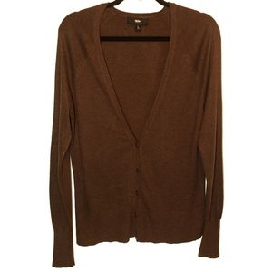 Mossimo Button Front Cardigan Dark Brown